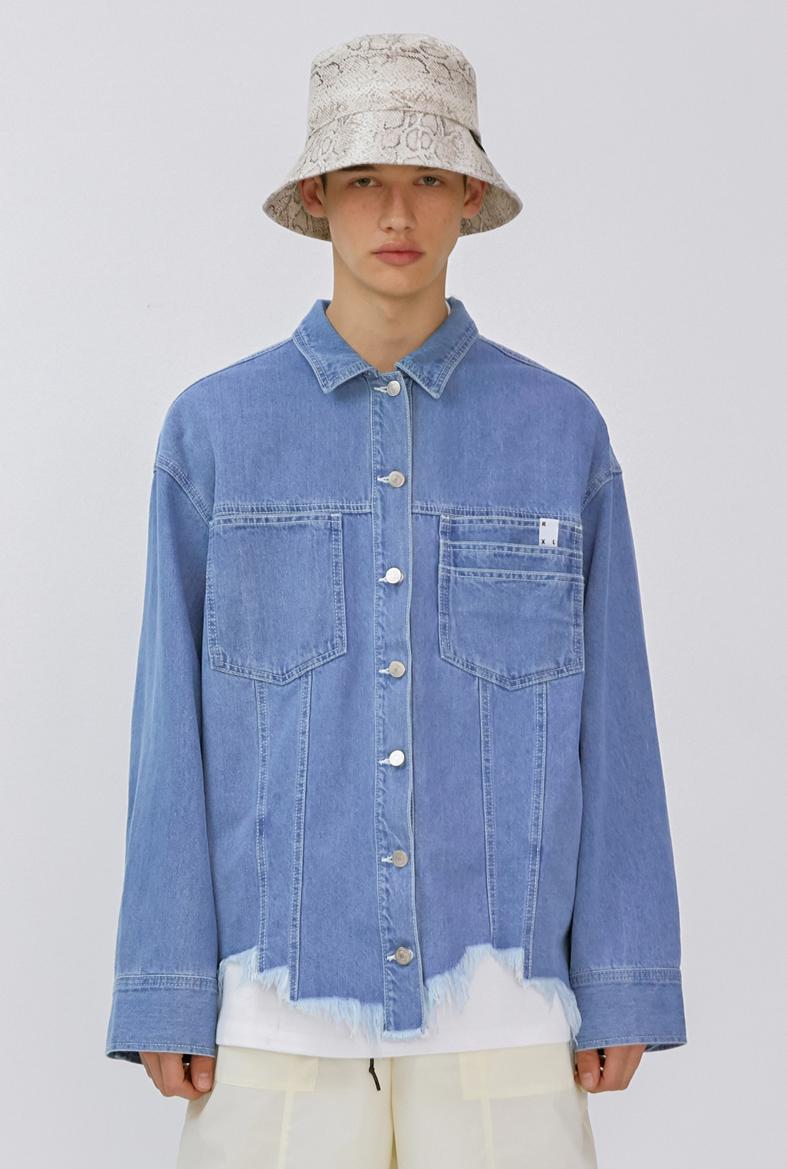 M)R DAMAGE HEMLINE DENIM JACKET