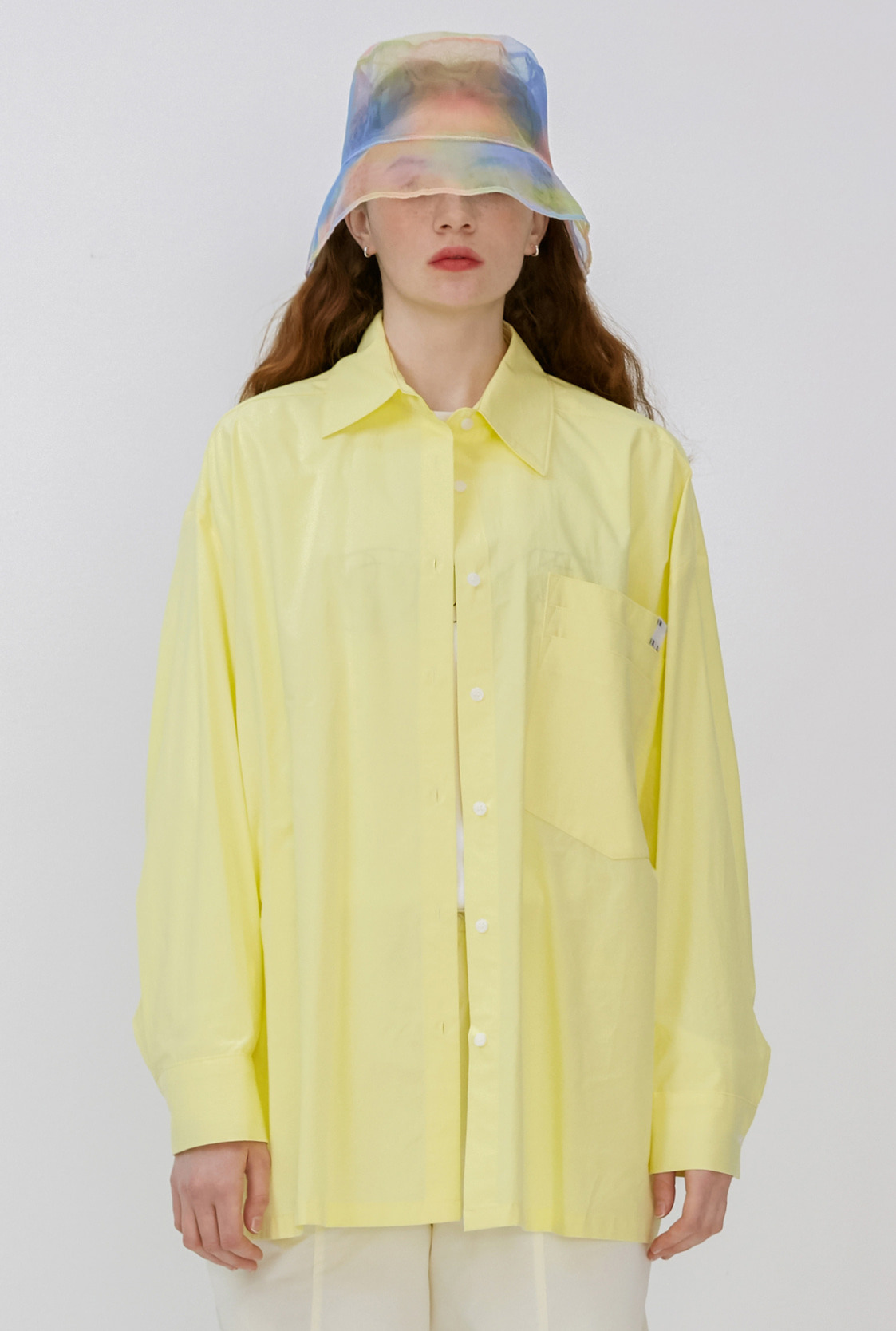 R OVERSIZE LAYERED POCKET SHIRT
