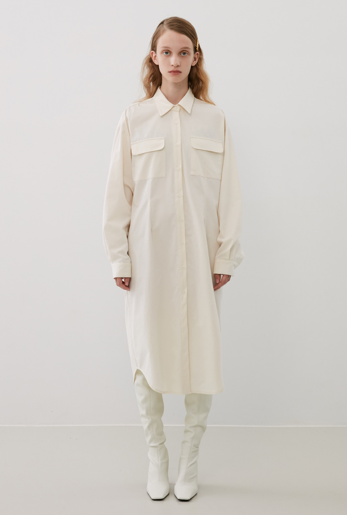 R POCKET SHIRT DRESS